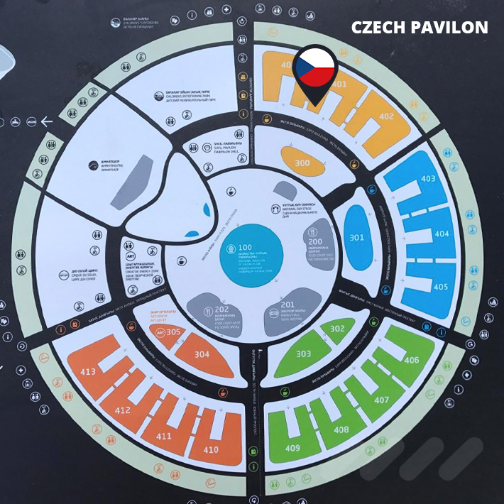 Site map of EXPO 2017